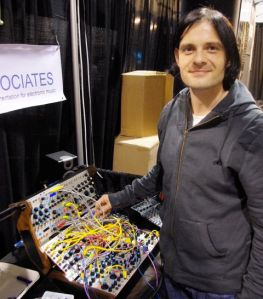 Alessandro Cortini and his Buchla